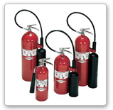 Carbon Dioxide (CO2) fire extinguisher